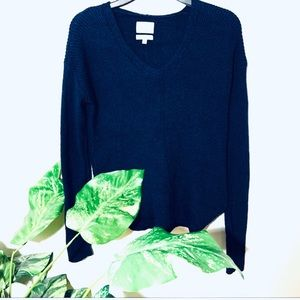 ✨DOWNSIZING✨ Wilfred Navy Blue Knit Sweater